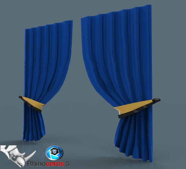 3D Curtain For Interiors model