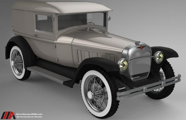 3D Peirce 1931 Series Car Model