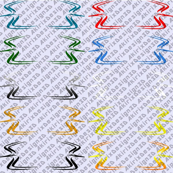 Vector Stripes PNG Pack