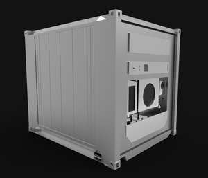 3D container model size 10ft refrigerated