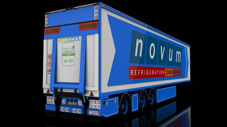 3D Frigo Transport Trailer Model