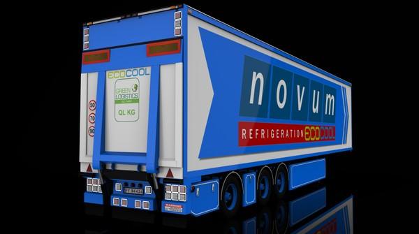3D Frigo Transport Trailer Model