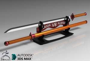 3D Scania Sword Decoration Model