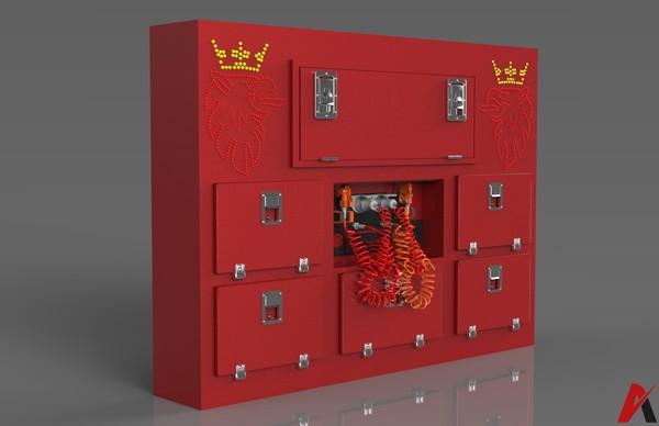 3D Scania BackCabin Service Lockers Model