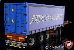 3D Broshuis Container Trailer Model