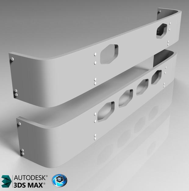 3D Visor 2Pack Model