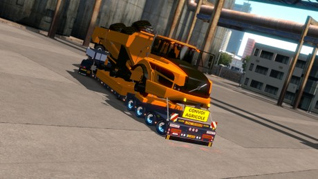 ETS2 1.34.x 4 Axled Doll Trailer With Volvo Dumper Version 2 Model