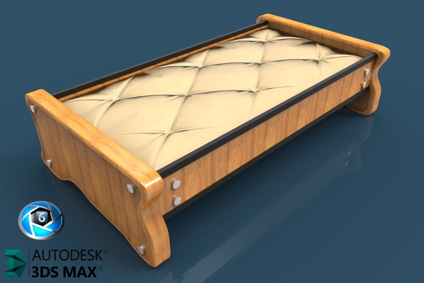 3D Scania Table With Leather