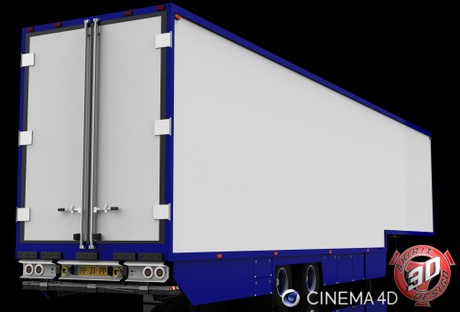 3D 2 Axles Flower Trailer Version II