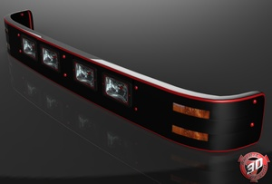 3D Sunvisor With Lights