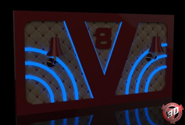 3D Scania Vabis Interior Panel V 1 Model