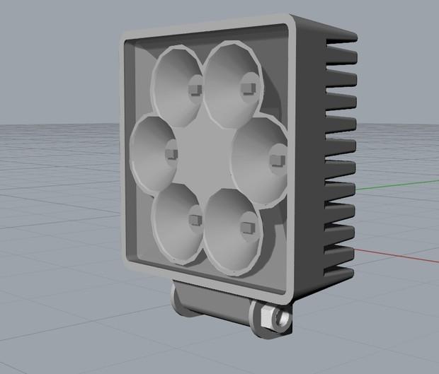 3D Model Tail Light