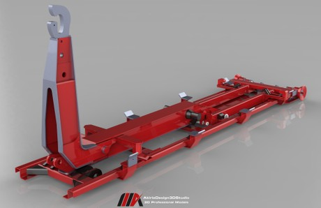 3D HKL Chassis Frame Model