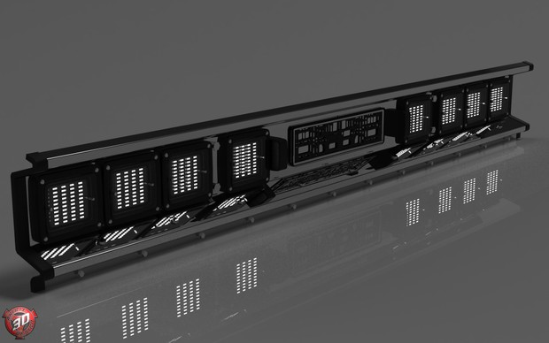 3D Hella Led Lights Tail Panel