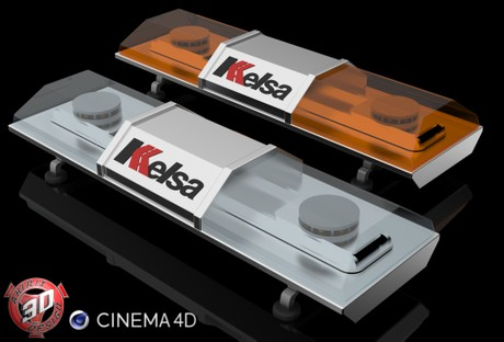 3D Strobe Kelsa Beacon Model