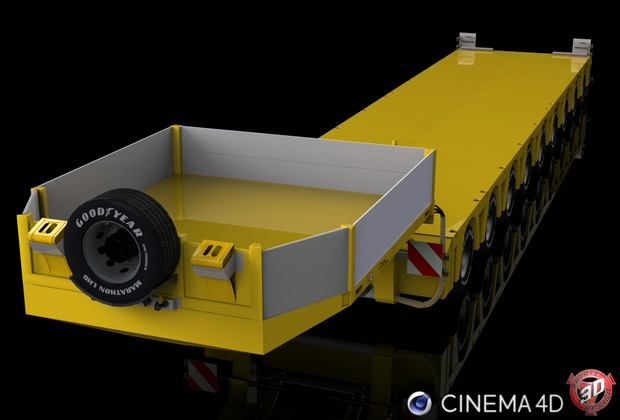 3D Doll Trailer 9 Axles