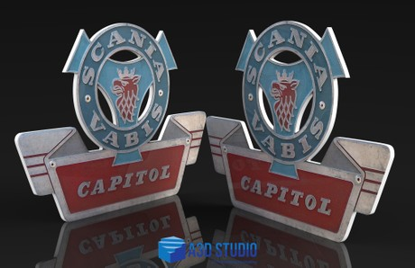 3D Scania Vabis Capitol Badge