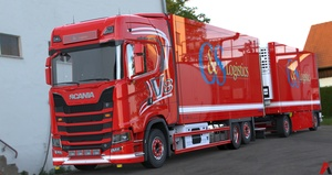 3D Scania S730 V8 Tandem FRC & Trailer Model