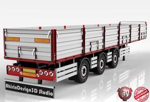 3D Opentop Trailer Model