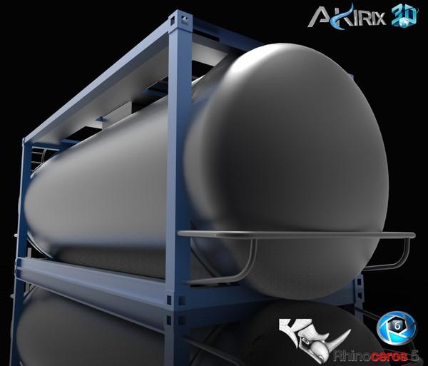 3D Container Frame 20ft Food Tanker