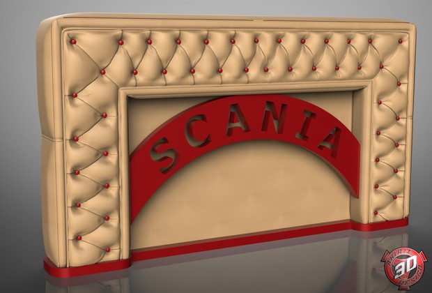 3D Scania Leather Panel