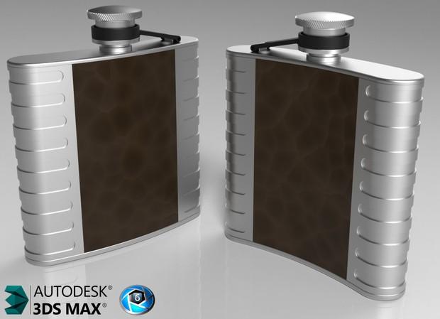 3D Whisky Flask Model