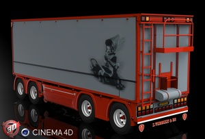 3D Tandem S.Verbeek Trailer Model