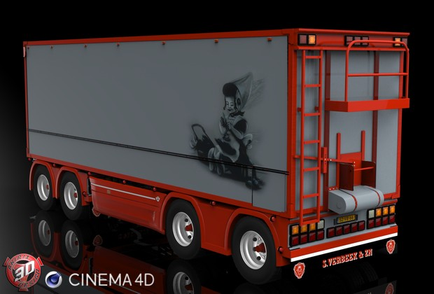 3D Tandem S.Verbeek Trailer Model