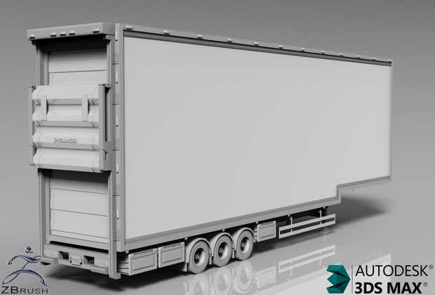 3D DoubleDeck FRC Trailer Model
