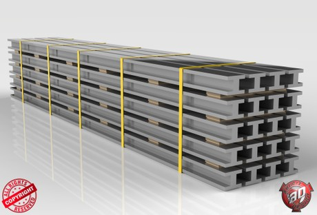 3D Steel Beams Load