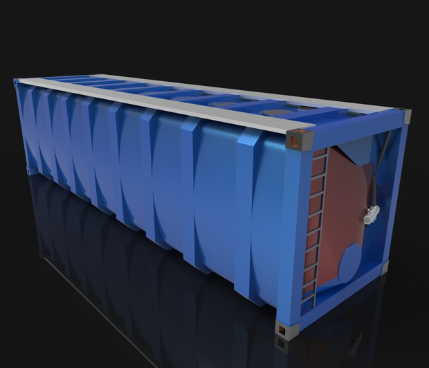 3D container bulker