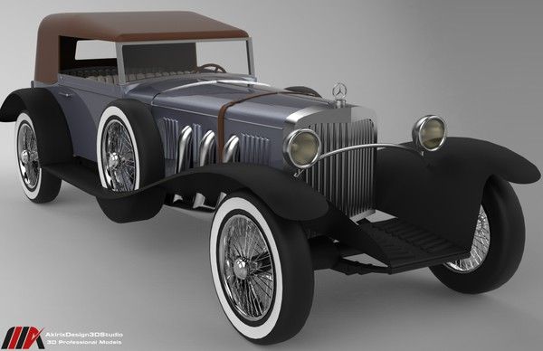 3D Mercedes Benz SS Year 1928