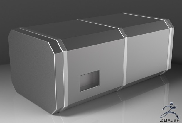 3D Squared Fuel Tank Model