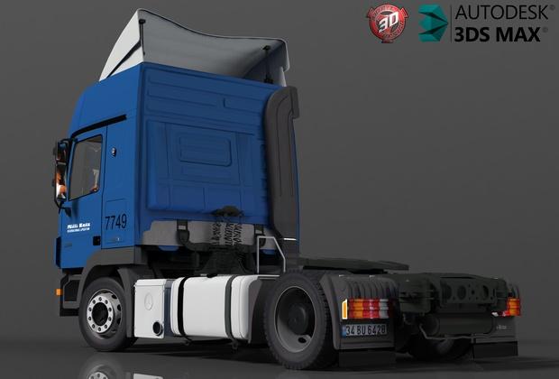 3D MB Actros 1844 Model