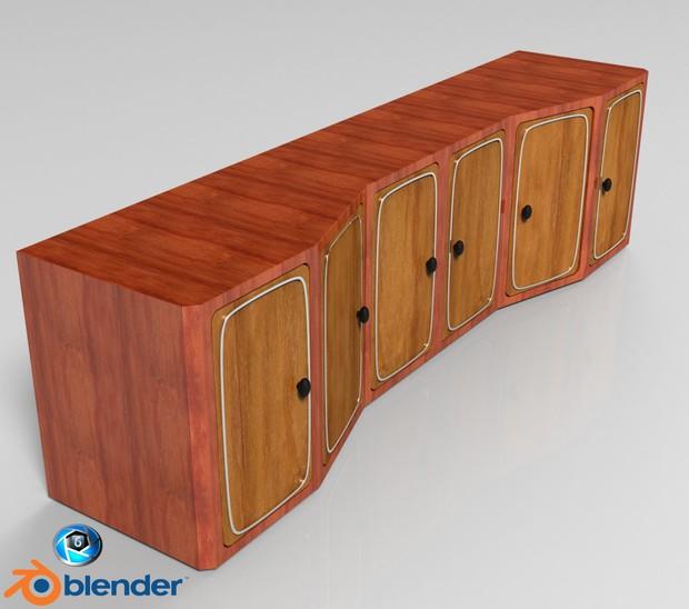 3D Interior Cabinets Model
