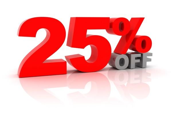 25% Discount Code