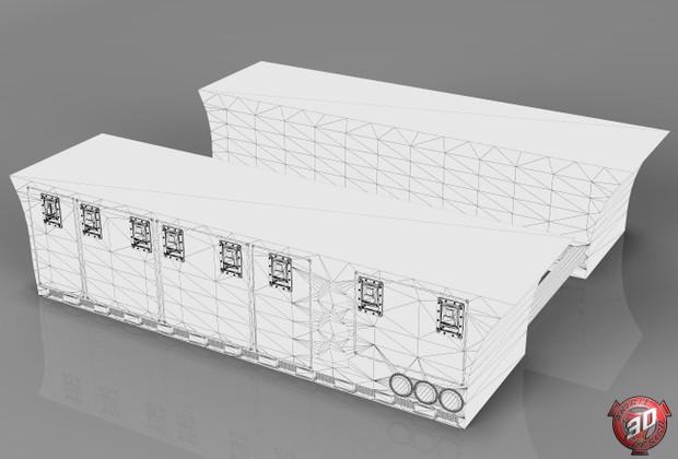 3D Custom Scania SidePanels Model
