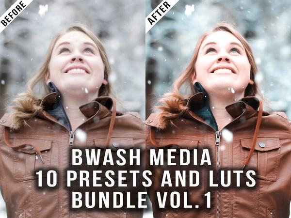 Bwash Media Presets and Luts Bundle Vol. 1