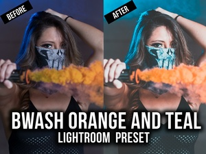 Bwash Orange and Teal Light Room Preset