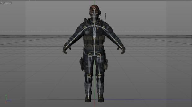 [C4D] Merrick GHOST model (rigged)