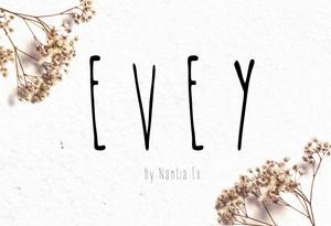 *EVEY*   handwritten Font
