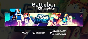 MINECRAFT BANNER 3D STYLE FOR YOUTUBE CHANNEL