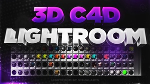 3D Text Lightroom - Cinema 4D