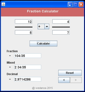 Change fractions to mixed numbers on a casio calculator fx-83gt.
