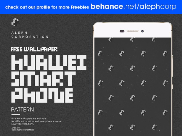 Free Huawei Smartphone Wallpapers - Pixel Art by aleph corporation