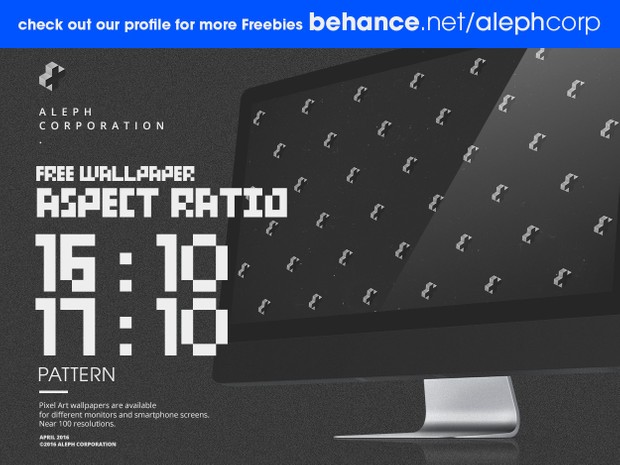 Free 16:10 & 17:10 Aspect Ratio Wallpapers - Pixel Art by aleph corporation