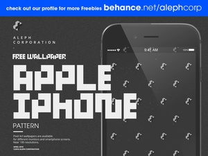 Free Apple iPhone Wallpapers - Pixel Art by aleph corporation