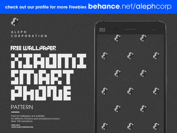 Free Xiaomi Smartphone Wallpapers - Pixel Art by aleph corporation
