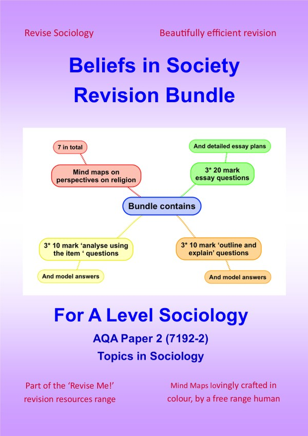 A Level Sociology Beliefs in Society Religion Bundle