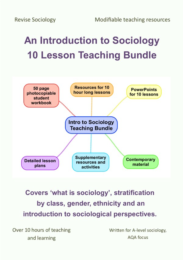A-Level Sociology Teaching Resource Bundle: 10 Introduction to Sociology Lessons